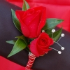 Red Sweetheart Rose Boutonniere - Red