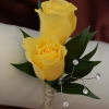 Yellow Sweetheart Rose Boutonniere - Gold