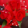 Red Sweetheart Rose Corsage - Red