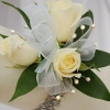 White Sweetheart Rose Corsage - White