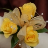 Yellow Sweetheart Rose Cosage - Gold