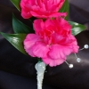 Hot Pink Mini Carnation Boutonniere - Ht Pink