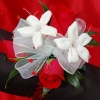 Red Sweetheart Rose and Stephanotis Corsage - Red