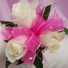 White Sweetheart Rose Corsage - Pink